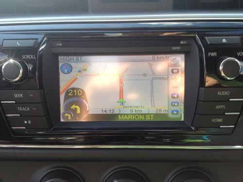 2014 toyota corolla navigation